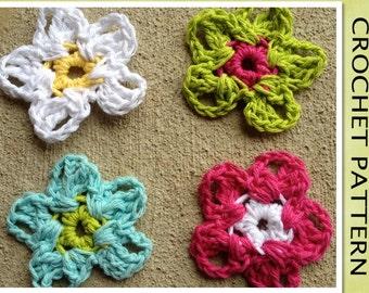 PDF Crochet Pattern - The Cala FLOWER Motif Applique