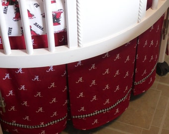 Round Crib ... Custom Pleated Round Crib Bedskirt ... Made with Client's Fabric -Labor Only