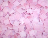 Mini Streaky Pink Tumbled Stained Glass Mosaic Tiles