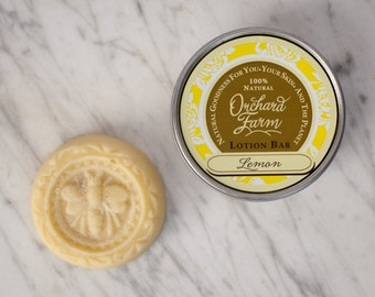 Lemon Lotion Bar//Natural Lotion//Shea Butter