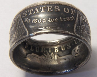 Silver coin ring napkin ring morgan dollar heavy ring you pick size 12 to 18  year 1921