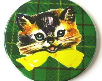 Cat Tartan Plaid Magnet
