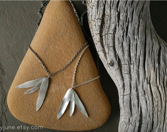 Silver 3 Leaf Necklace | Sterling Silver Necklace