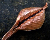Celtic Leaf Hair Stick, Hand-forged from Recycled Copper
