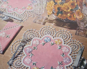 Vintage Lily Doilies Crochet Pattern Book