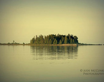 island landscape photography green home decor cottage chic office decor trees water