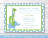 Cute Elephant Giraffe Bab...