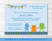 Cute Monster Baby Shower ...
