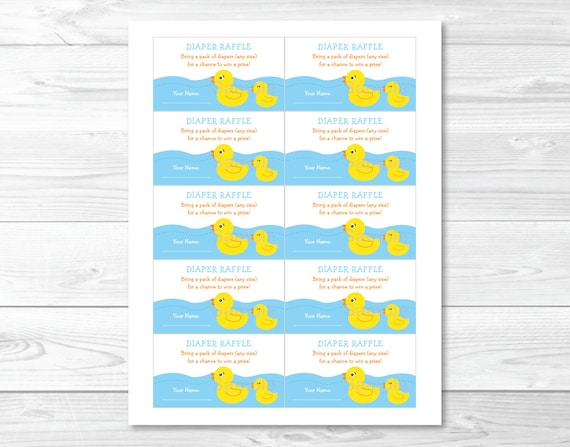These Adorable Printable Diaper Raffle Tickets Are The Perfect Baby Shower  Activity! Simply Insert One Along With Your Baby Shower Invitation.