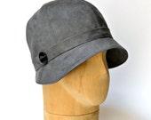 1920s Cloche in Charcoal, Women's Cloche Hat