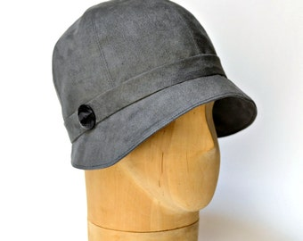 1920s Cloche in Charcoal, Women's Cloche Hat