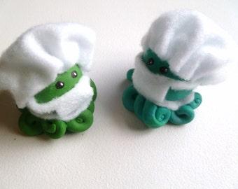 Little Doctor Surgeon Octopus Mini Marble Friend Choose One Blue or Green Scrubs