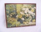 Vintage Still Life Floral Print - P. Gericke Art Pub Co Chicago, Luscious Fruit -  1920s