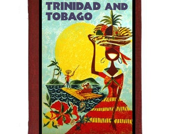 TRINIDAD and TOBAGO 5- Handmade Leather Journal / Sketchbook - Travel Art