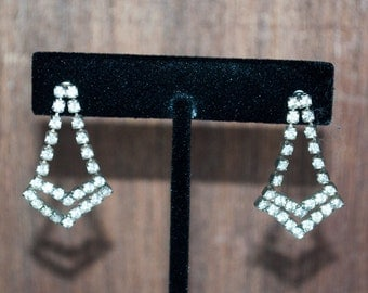 Cheveron Rhinestone Earrings