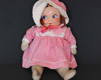 Cloth Doll with Painted Face