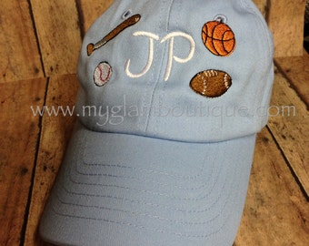 Infant or Toddler Custom Personalized Baseball Hat Cap - You choose the design  - Birthday, Big Brother, Big Sister, Siblings - you choose!