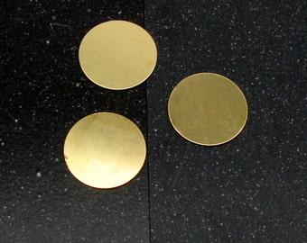 """1-1/4"""" Brass Disc 24 Gauge  Pack of 3"""