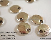 20 Flat Round Drop 8mm Antique Silver LF/NF - 20 pc - M7040-AS20
