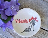 Bridesmaid Jewelry Dish - Personalized Gifts for Bridesmaids - Maid of Honor - Flower Girl - Ring Dish - Ring Bowl - Jewelry Bowl