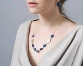 Blue Lapis Necklace , Lapis Statement Necklace