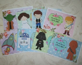 STAR WARS - BOOKPLaTES - Custom Bookplates - Made to order - Set of 8 - Self-Adhesive - SWBP 8897