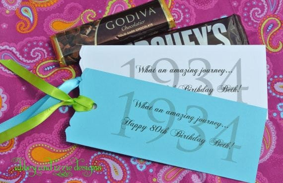 Birthday party favors 80th birthday candy favors for 80th birthday decoration ideas