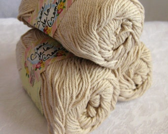 Creme de la creme Cotton Yarn, LINEN,  100% cotton yarn, worsted weight