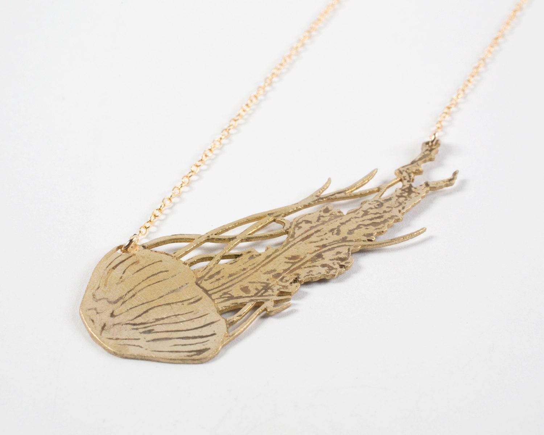 jellyfish necklace medusa jewelry kraken necklace by jtopolski