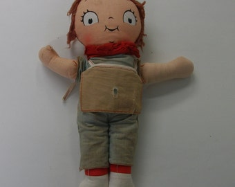 Tattered Vintage Campbell Soup Rag Doll