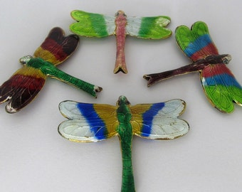 SALE - X-Large Cloisonne Dragonfly Beads - Assorted Colors