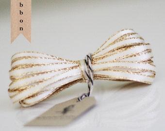 Wholesale Ivory Sparkle Satin Twine Ribbon 50 yards