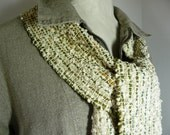 Scarf, Handwoven Scarf in Natural, Textural Cotton by Frederick Avenue