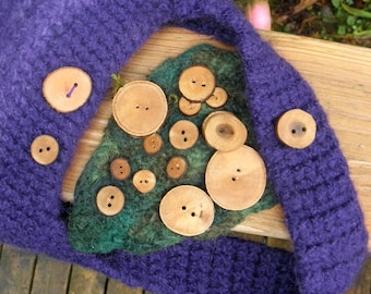 WOOD BUTTONS - Choose what size you want
