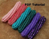Tubular Twisted Herringbone, Seed Bead Twisted Tube, PDF Tutorial by CC Design