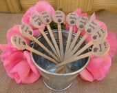 Wooden Drink Stirrers for Wedding, Reception, Bridal Shower, Special Event - Coffee, Tea Stirrer, Love is Brewing - Set of 25 - Item 1596
