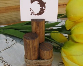 Rustic Wood Table Number Holder - Table Card Holder - Item 1590