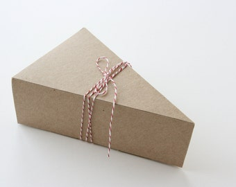 BOXES ONLY - Lidded Pie Slice Boxes in Kraft