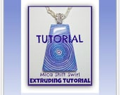 Tutorial Polymer Clay- Mica Shift Swirl- Extruded Pendants- Beginner Tutorial- Easy Polymer Clay Tutorial