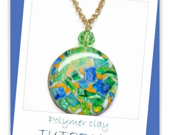 Polymer Clay Tutorial- Faux Gemstone Pendants- Jewelry Tutorial- Technique Tutorials- Beginners Tutorial-