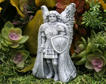 St Michael Statue for Sale - Archangel Michael Candle Holder Protection Talisman
