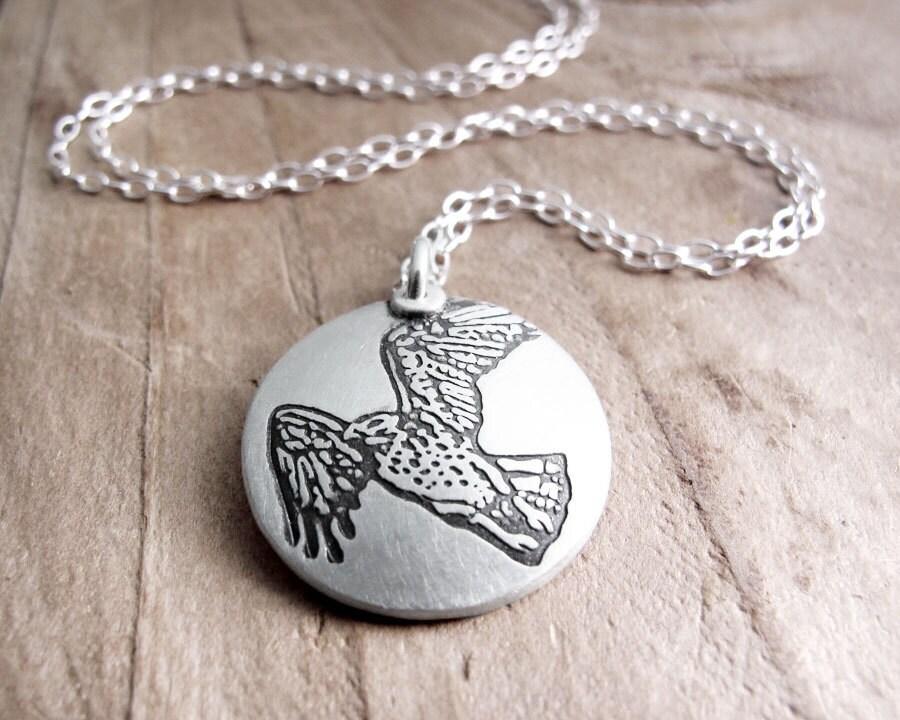 hawk necklace silver hawk jewelry