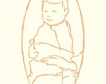hand pulled print / baby wall art / baby art prints