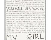 Geezees Custom Canvas Artwork  Wedding Lyrics Wall Art  favorite song Wedding vow art  Personalized Canvas Artwork  12x16 inch