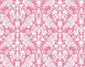 RBD, Medium Damask White on Hot Pink (C830 70) - cut options available