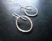 Oval Earrings. Oval Hoop Earrings in Sterling Silver - Sterling Silver Oval Hoop Earrings, Twig Jewelry