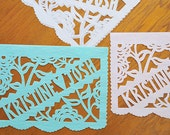 Sets of 2 Personalized papel picado banners . TWILIGHT wedding garland