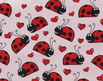 Ladybugs Love Hearts Pink Curtain Valance NEW