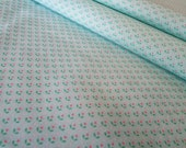 Vintage Dotty Floral Pale Blue Fabric Yardage