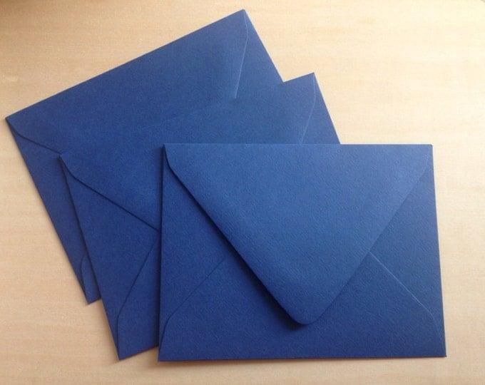 Set of 10 Sapphire Blue Envelopes